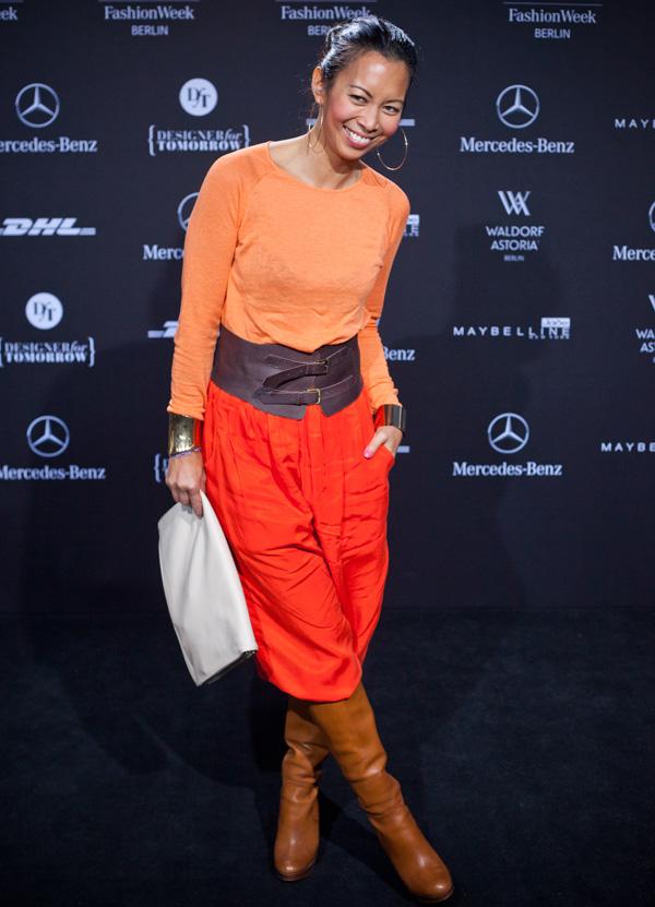modeverliebt Streetstyle mit Moderatorin Minh Khai Phan Thi auf der Mercedes-Benz Fashion_Week Berlin A/W 2013