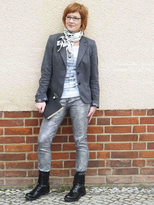 Punk Chic Styling mit Metallic Trend