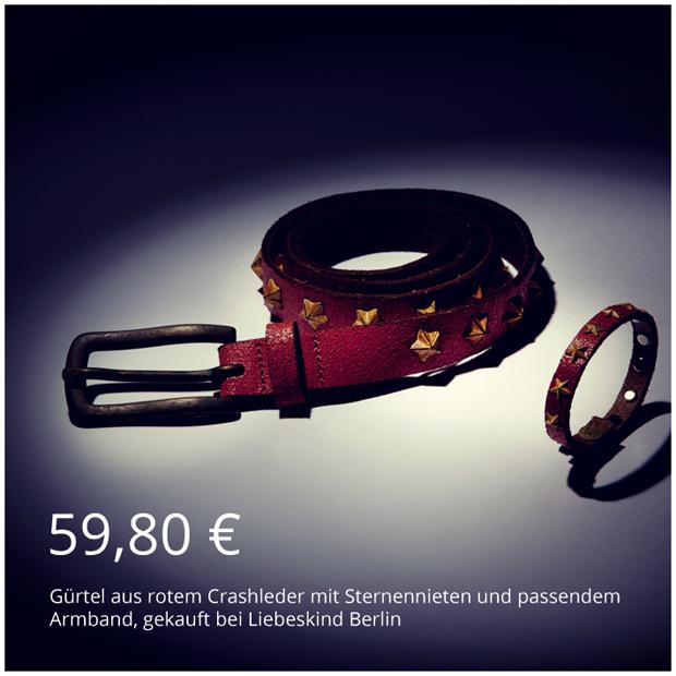 Geschenkideen für Mama und Papa - Gürtel aus Leder mit passendem Armband von Liebeskind Berlin