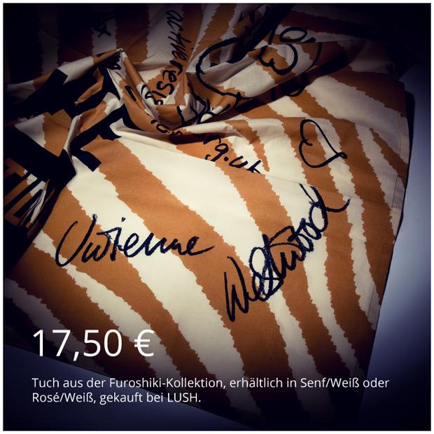 Tuch aus der Vivienne Westwood Furoshiki für LUSH Cosmetics Kollektion