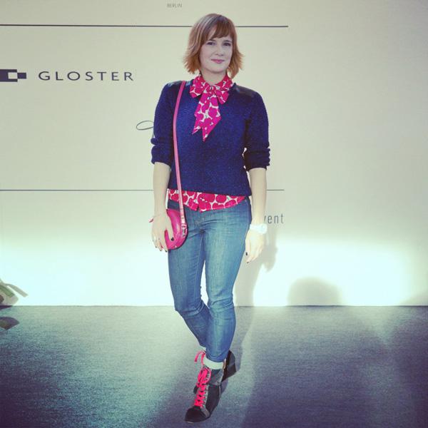angie und chris_modeverliebt auf der Lena Hoschek Runwayshow auf der Mercedes-Benz Fashion Week A/W 2014